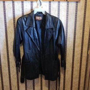 Like new ladies leather coat